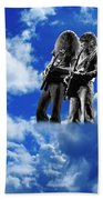 Allen And Steve In Clouds Bath Towel