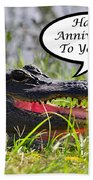 Alligator Anniversary Card Bath Towel