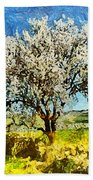 Almond Tree Bath Towel