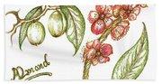 Almond With Flowers Bath Towel