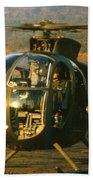 Aloha  Oh-6 Cayuse Light Observation   Helicopter Lz Oasis Vietnam 1968 Bath Towel
