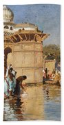 Along The Ghats Mathura Bath Towel