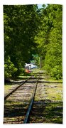 Along The Rails Bath Towel