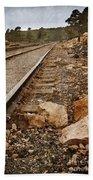 Along The Tracks Bath Towel