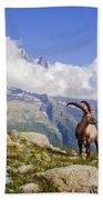 Alpine Ibex Bath Towel