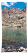 Alpine Lake Beneath Sunlight Peak Bath Towel