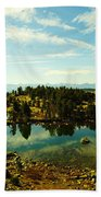 Alpine Lake Off The Beartooth Highway Bath Towel