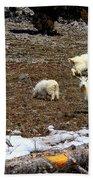 Alpine Mountain Goats Bath Towel