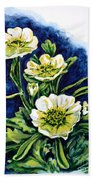 Alpine Ranunculus Bath Towel