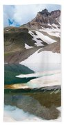 Alpine Reflection In The San Juans Bath Towel