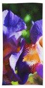 Amazing Iris Bath Towel