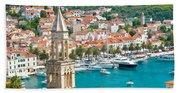 Amazing Town Of Hvar Harbor Hand Towel