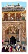 Amber Fort Entrance To Living Quarters - Jaipur India Bath Towel