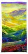 Wildflower Meadows, Amber Skies Bath Towel