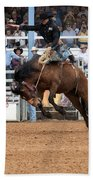 American Cowboy Riding Bucking Rodeo Bronc I Bath Towel