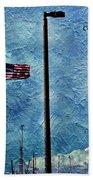 American Flag As A Painting Bath Towel