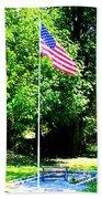 American Flag - Honoring John Bath Towel