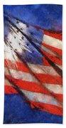 American Flag Photo Art 02 Bath Towel