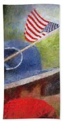 American Flag Photo Art 06 Bath Towel