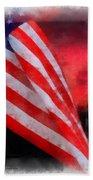 American Flag Photo Art 07 Bath Towel