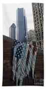 American Flag Tattered Bath Towel