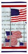 American Flag Tribute  Bath Towel