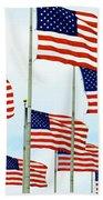 American Flags Bath Towel