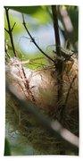 American Goldfinch Nest Under Construction Bath Towel