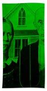 American Gothic In Green Bath Towel