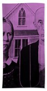 American Gothic In Pink Hand Towel