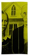 American Gothic In Yellow Hand Towel