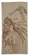 American Horse - Oglala Sioux Chief - 1880 Hand Towel