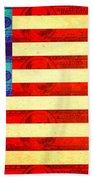 American Money Flag Bath Towel
