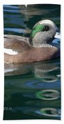 American Widgeon Duck Bath Towel