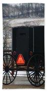 Amish Buggy In Winter Bath Towel