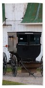 Amish Buggy White Barn Bath Towel