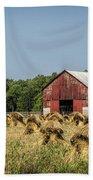 Amish Country Wheat Stacks And Barn Bath Towel
