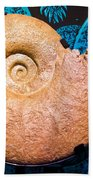 Ammonite Fossil Bath Towel