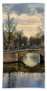Amsterdam Bridges Bath Towel