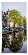 Amsterdam Canal In Spring Bath Towel