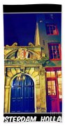 Amsterdam Postcard Bath Towel