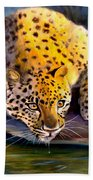 Amur Leopard  Spotted Something Bath Towel