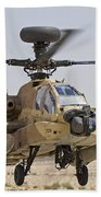 An Ah-64d Saraf Attack Helicopter Bath Towel