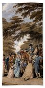 An Airing In Hyde Park, 1796 Hand Towel