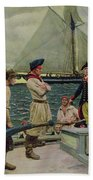 An American Privateer Taking A British Prize, Illustration From Pennsylvanias Defiance Bath Towel