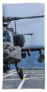 An Army Ah-64d Apache Helicopter Takes Bath Towel