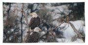 An Eagle Pair  Bath Towel