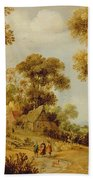 An Extensive Wooded Landscape Bath Towel