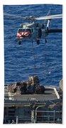 An Mh-60s Sea Hawk Delivers Supplies Bath Towel