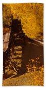 An Old Colorado Mine In Autumn Bath Towel